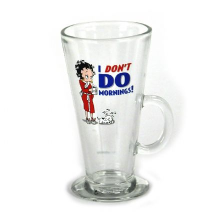 Betty Boop I Don't Do Mornings Latte Glass